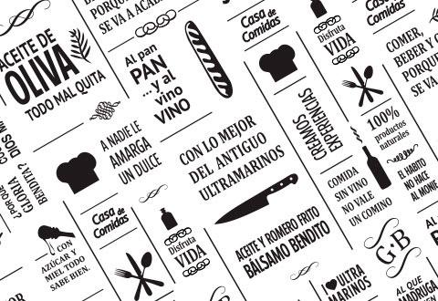 Diseño carta menú restaurante Gloria Bendita
