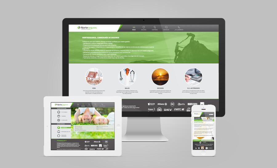 Diseño página web adaptaba a dispositivos móviles Norteseguros A Coruña
