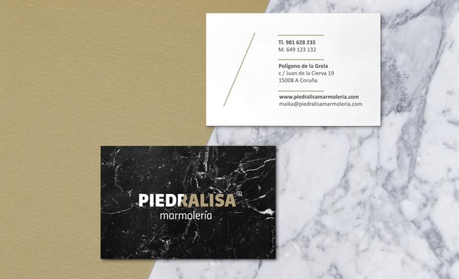 Diseño tarjetas de visita Piedralisa A Coruña