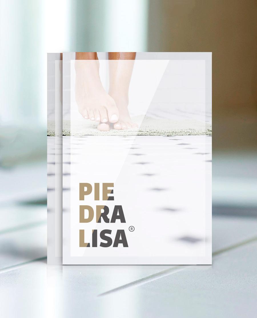 Diseño promocional de marca Piedralisa