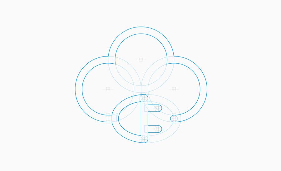 Diseño identidad visual lanubeelectrica.com