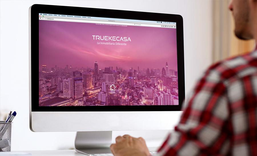 Diseño página web Truekecasa A Coruña