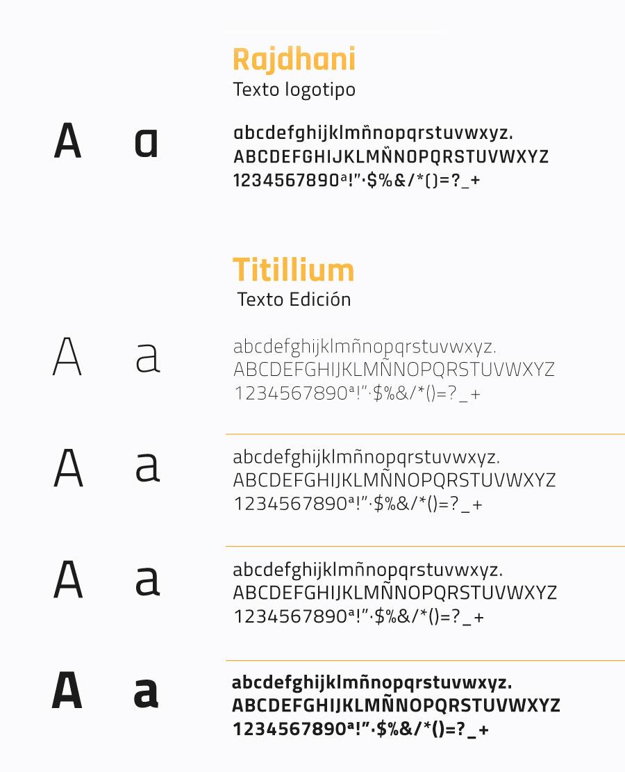 Tipografía corporativa Pretico
